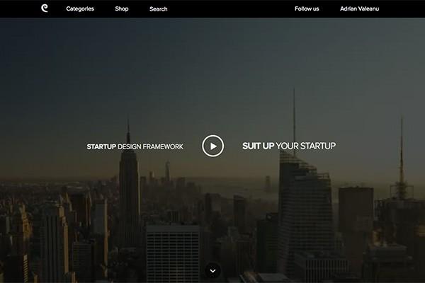 """""""视频背景""""式网页设计示例"""